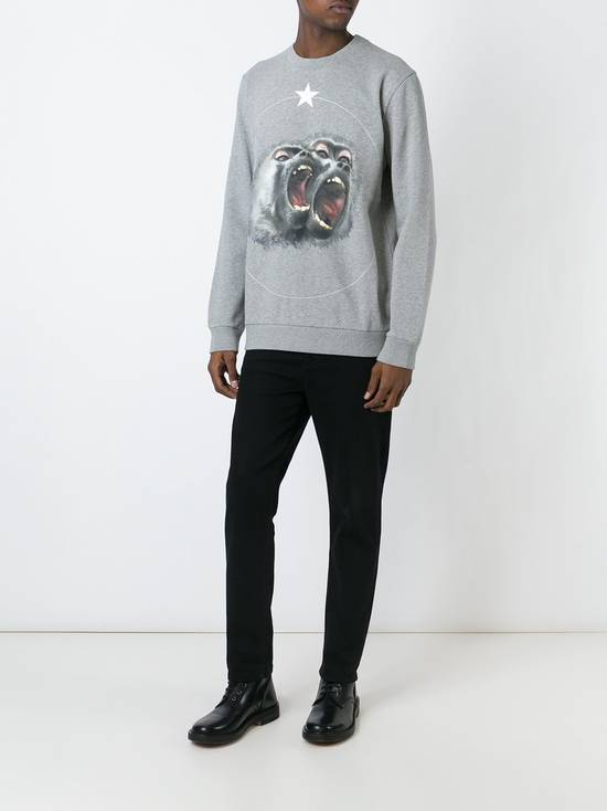 Givenchy Givenchy Grey Twin Monkey Brothers Print Rottweiler Men's Sweater size XS (S / M) Size US S / EU 44-46 / 1 - 4