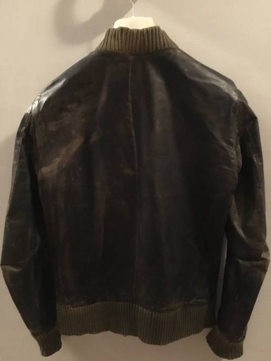 Balmain Decarnin Green Leather Teddy Boy Jacket Size US M / EU 48-50 / 2 - 1