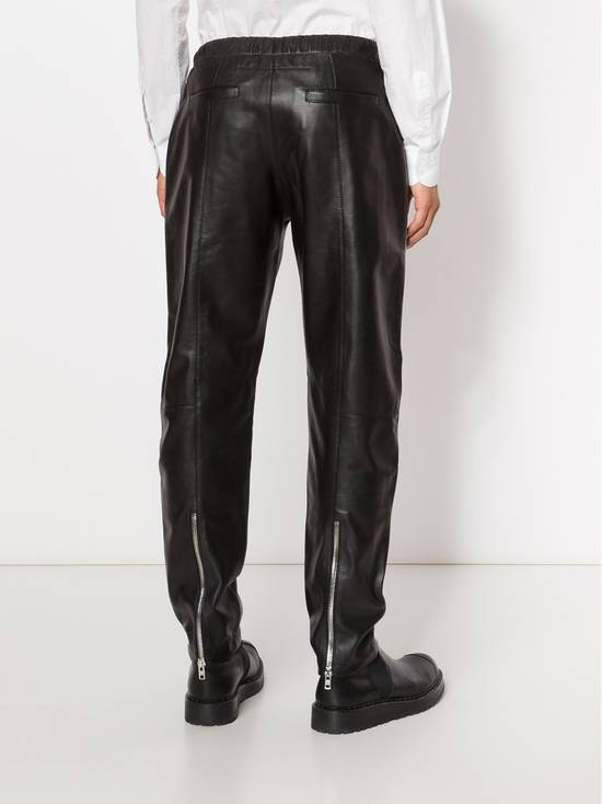 Givenchy $2475 Givenchy Lambskin Rottweiler Leather Trousers Trackpants size 50 (M / L) Size US 34 / EU 50 - 3