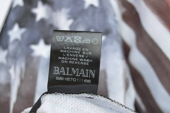 Balmain Flag and Logo Print Sweater Size US L / EU 52-54 / 3 - 10