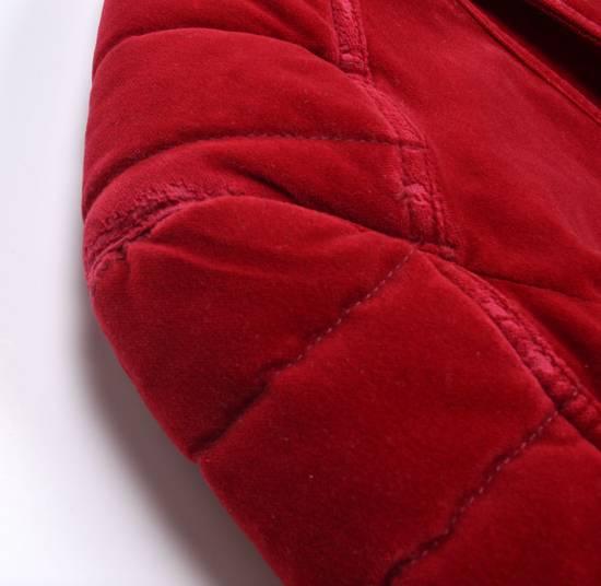 Balmain Badge Embellished Red Velvet Bomber Size US S / EU 44-46 / 1 - 7