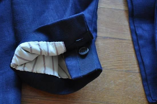 Thom Browne Navy Linen Blazer Size 40R - 1