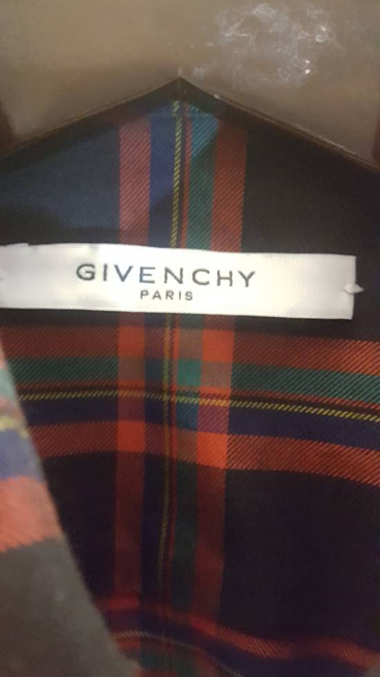 Givenchy Plaid Woven shirt with leather trim Size US M / EU 48-50 / 2 - 1