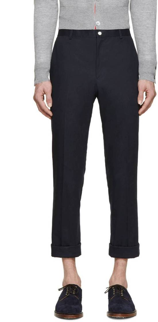 Thom Browne Navy Unstructured Chino Size US 31 - 1