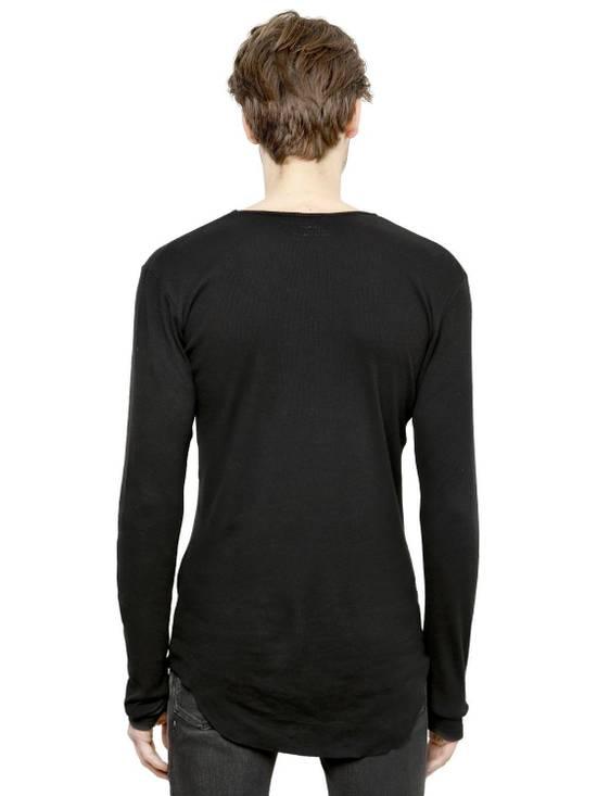 Balmain Black Ribbed Knit Long Sleeve T-shirt Size US M / EU 48-50 / 2 - 2