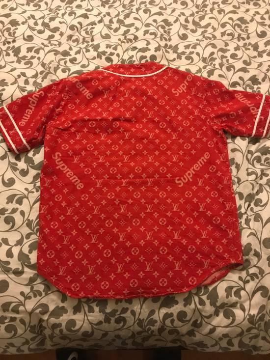 Supreme Louis Vuitton Supreme Red Denim Baseball Jersey Size US S / EU 44-46 / 1 - 1