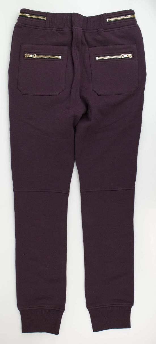 Balmain Men's Burgundy Cotton Leggings Biker Pants Size Large Size US 36 / EU 52 - 2