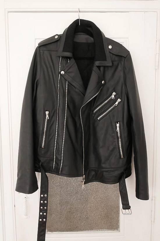 Balmain AW15 black leather biker jacket Size US L / EU 52-54 / 3 - 2