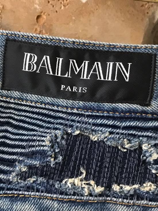 Balmain BALMAIN 18CM DESTROYED BIKER DENIM JEANS Size US 28 / EU 44 - 2