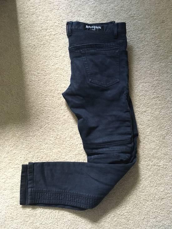 Balmain Black Bike Jeans Size US 32 / EU 48 - 2