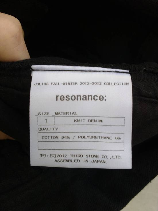 Julius Black Knit Denim Waxed Drop Crotch Jeans Size US 29 - 6