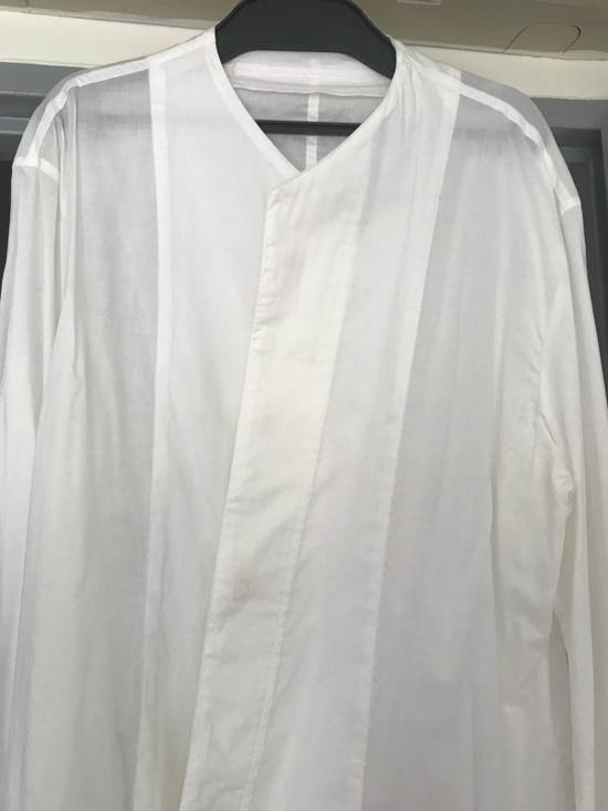 Julius SS16 long shirt with no collar Size US L / EU 52-54 / 3 - 1