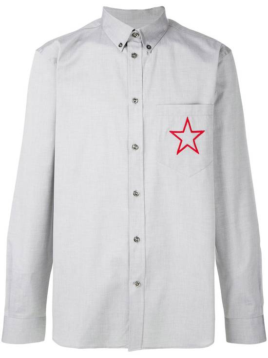 Givenchy Grey Embroidered Star Shirt Size US M / EU 48-50 / 2 - 1