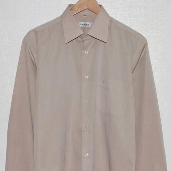 Balmain Vintage Balmain Paris Men's Longsleeve Button Shirt Beige Size M L 39 40 Cotton Size US M / EU 48-50 / 2 - 3