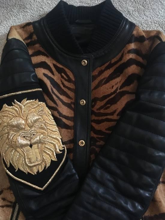 Balmain Rare Tiger Chest Biker Jacket Size US S / EU 44-46 / 1