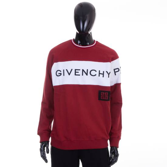 Givenchy Dark Red Givenchy Paris 4G Embroidered Sweatshirt Size US M / EU 48-50 / 2