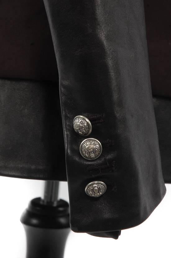 Balmain Balmain Black Leather Sleeve Blazer Size US S / EU 44-46 / 1 - 5