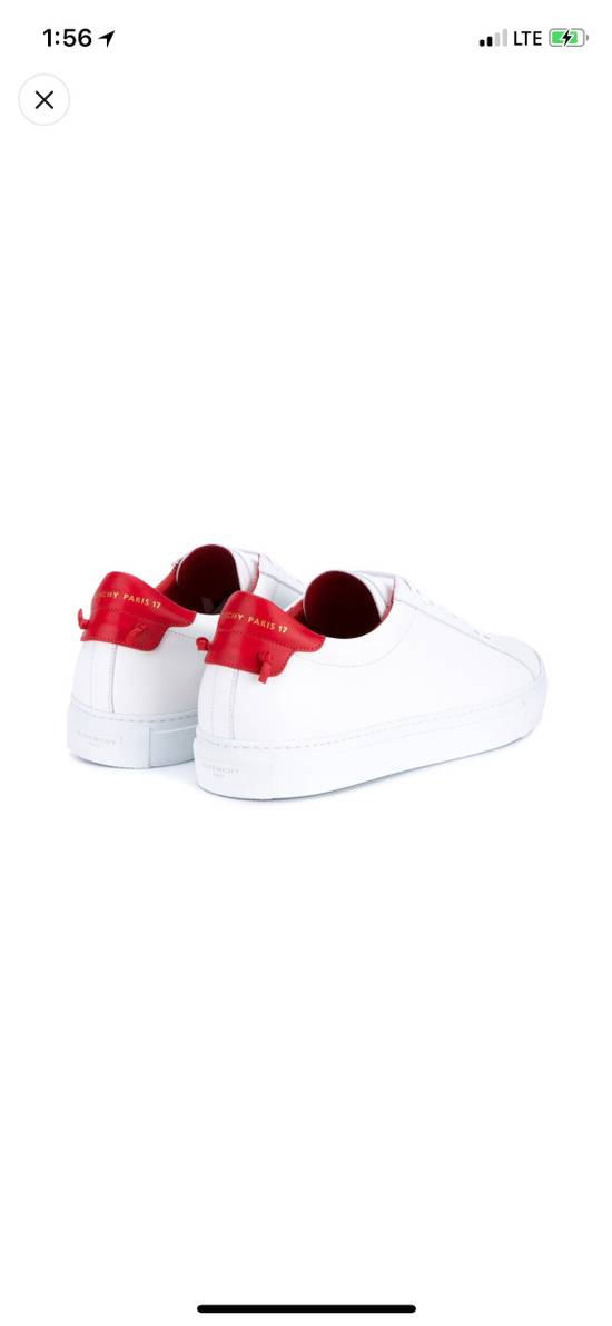 Givenchy Givenchy White & Red Urban Street Sneakers Size US 11 / EU 44