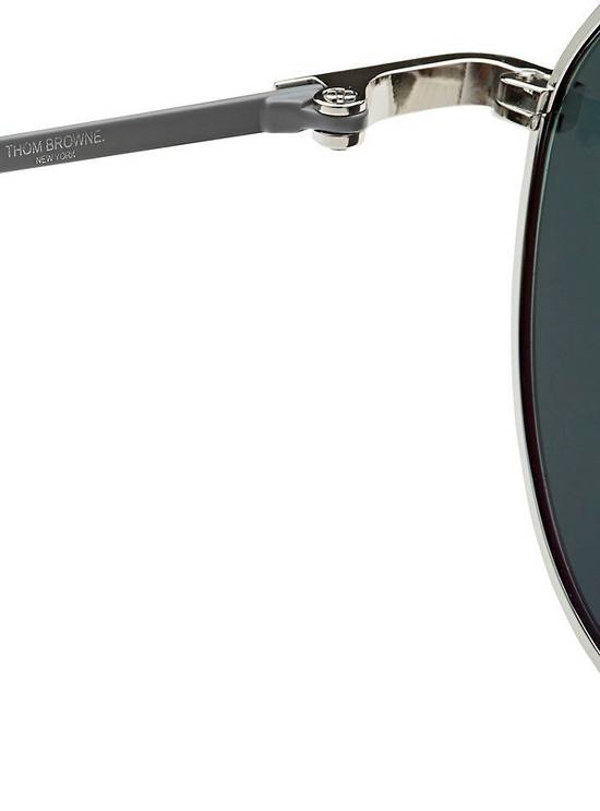 Thom Browne THOM BROWNE TB 105 Sunglasses Silver Grey Mirror New Retails $895 Size ONE SIZE - 5