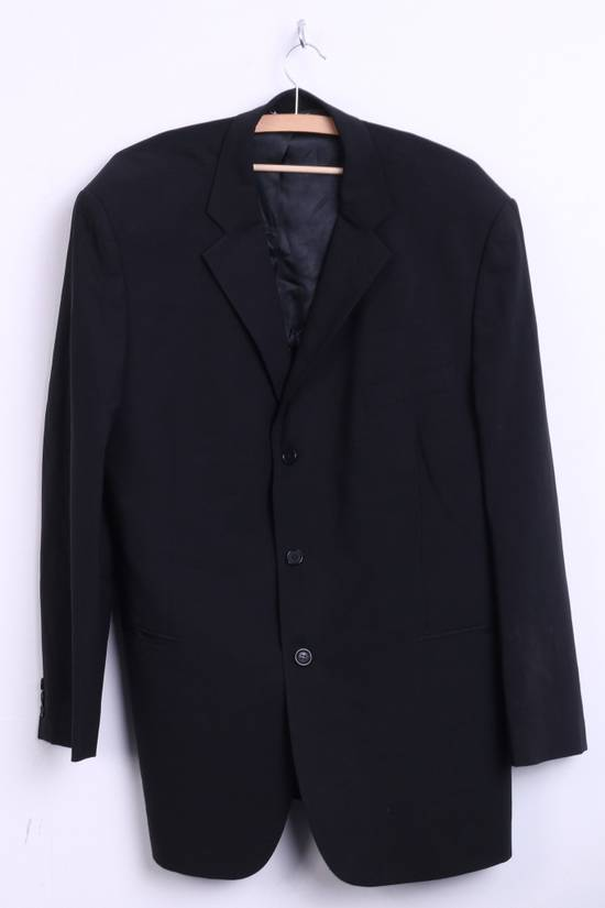 Balmain BALMAIN Paris Mens 46 Blazer Top Suit Black Regular Wool Single Breasted 6860 Size 46R