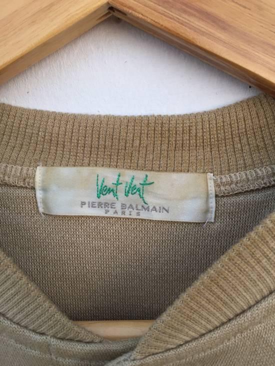 Balmain Original Luxury Pierre Balmain Embroidery Small Logo Sweatshirt / Pierre Balmain Pullover / Pierre Balmain Jacket Luxury Vintage Fashion Style Size US M / EU 48-50 / 2 - 3