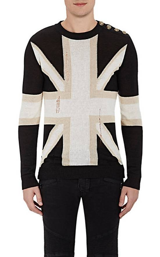 Balmain Union Jack Sweater beige/blk Size US XL / EU 56 / 4 - 16