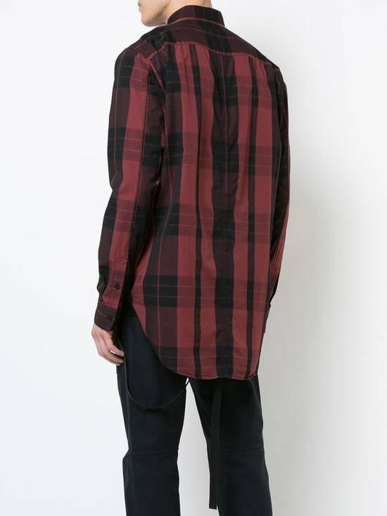 Julius Red Check Panel Shirt Size US M / EU 48-50 / 2 - 1