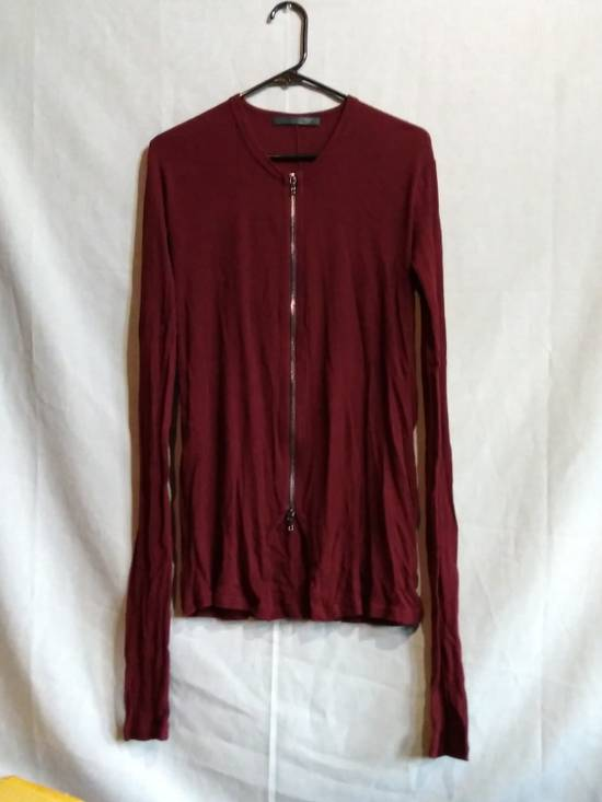 Julius Blood Red Zip Up Ribbed Long Sleeve Shirt ss09 Size US M / EU 48-50 / 2
