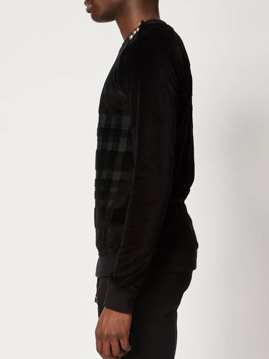 Balmain Size Small - Checked Button Shoulder Sweatshirt- FW16 - $1050 Retail Size US S / EU 44-46 / 1 - 8