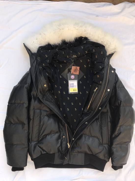 Canada Goose OVO Canada Goose 2011 Leather 24k Gold Fur Bomber Jacket Size US XL / EU 56 / 4