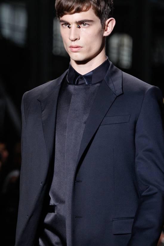 Givenchy SS13 BLACK COLLAR DETAILED SHIRT Size US XS / EU 42 / 0 - 3