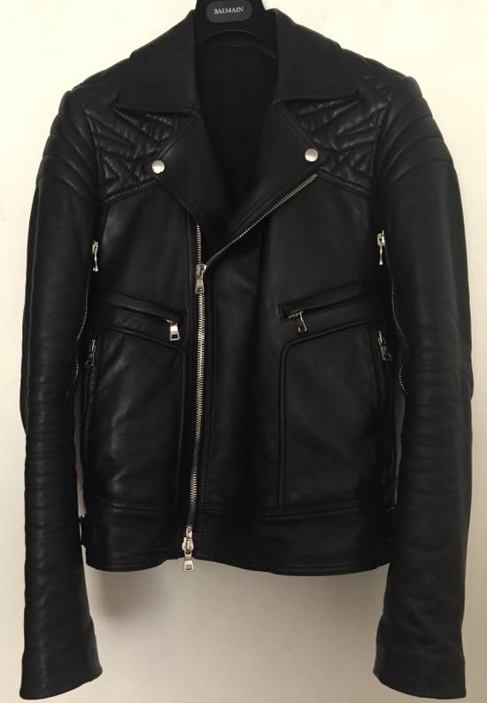 Balmain Balmain Geometric Leather Jacket Size US S / EU 44-46 / 1