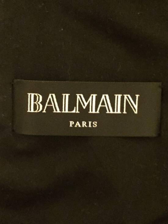 Balmain RARE Waxed Moleskin Biker Jacket Size US L / EU 52-54 / 3 - 10