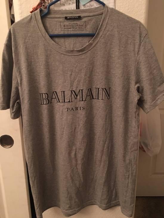 Balmain Grey Logo Tee Size US XL / EU 56 / 4