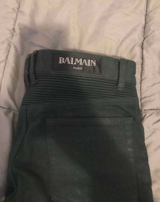Balmain Green Cargo Zipper Pants Size US 30 / EU 46