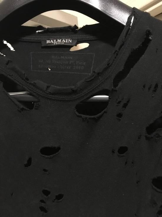 Balmain AW10 Destroyed T Shirt Size US S / EU 44-46 / 1 - 1