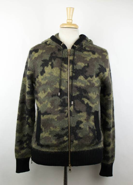 Balmain Camouflage Wool Blend Zip Up Hoodie Size S Size US S / EU 44-46 / 1