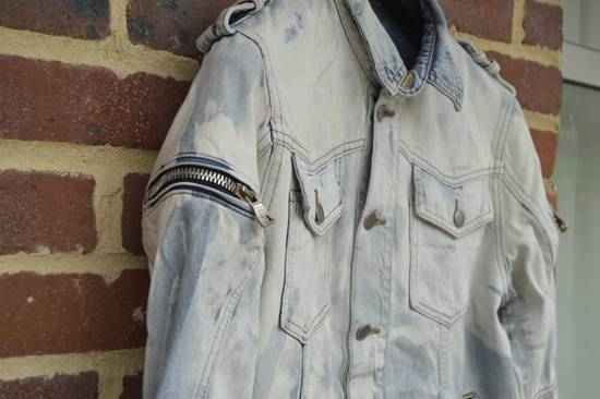 Balmain Light Blue Distressed Denim Jacket Size US M / EU 48-50 / 2 - 5
