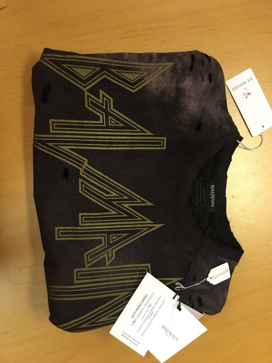 Balmain Balmain Distressed Batik Print Logo T-Shirt Size US XL / EU 56 / 4 - 2