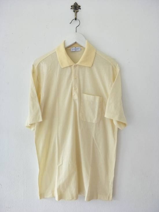 Givenchy France Designer / Vtg Classic Givenchy Paris GC / Yellow Pocket Embroidered Logo / Made In Italy / Excellent Condition / Large Size Size US L / EU 52-54 / 3