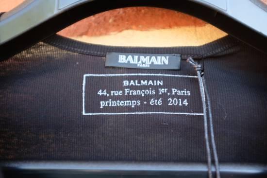 Balmain Black Ribbed Knit T-shirt Size US XS / EU 42 / 0 - 5