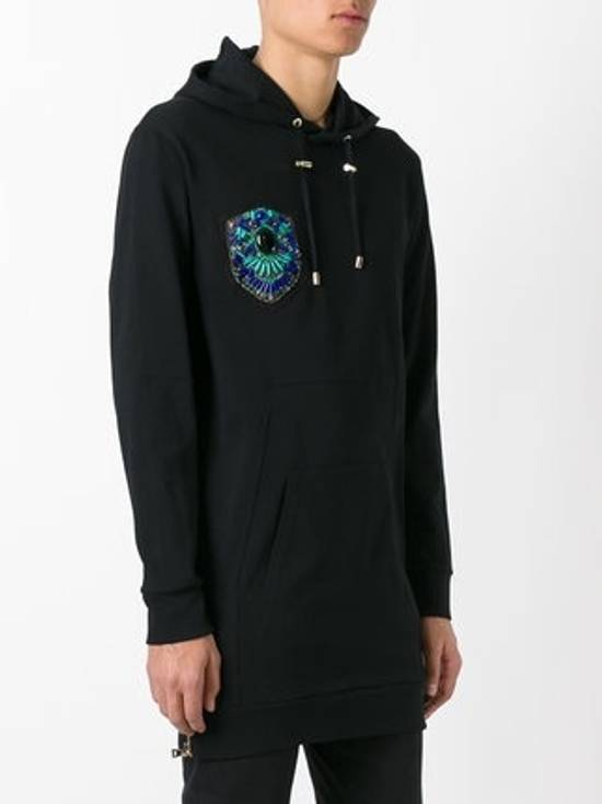 Balmain Black Gold Crest Embroidered Hoodie Size US S / EU 44-46 / 1 - 1