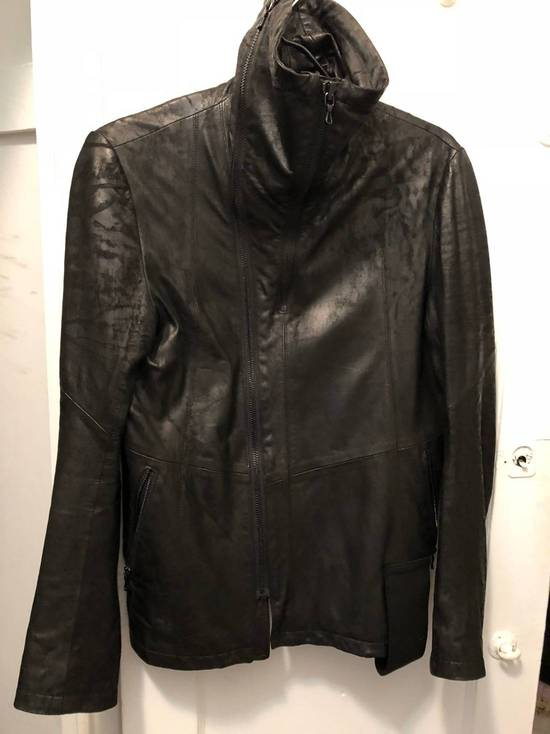 Julius SLASH-NECK LEATHER (SS17) Size US M / EU 48-50 / 2