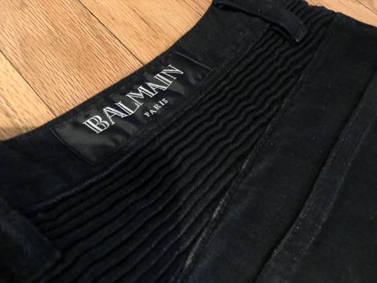 Balmain Balmain Biker Jeans Black Distressed Size US 32 / EU 48 - 5