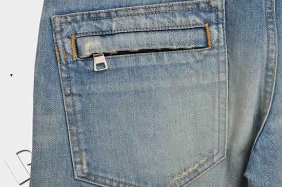 Balmain Slim Signature Light Blue Biker Jeans Size US 29 - 7