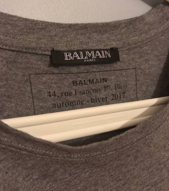 Balmain Balmain Logo Tee Grey Size US M / EU 48-50 / 2 - 1