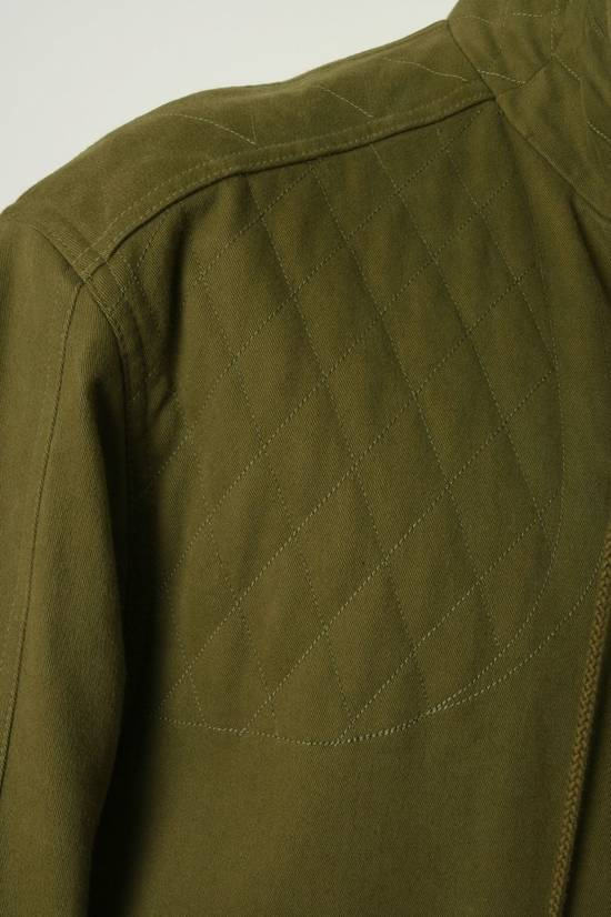 Balmain BALMAIN Pre14 army green stretch military zip up oversized jacket FR40 US8 UK12 Size US M / EU 48-50 / 2 - 10