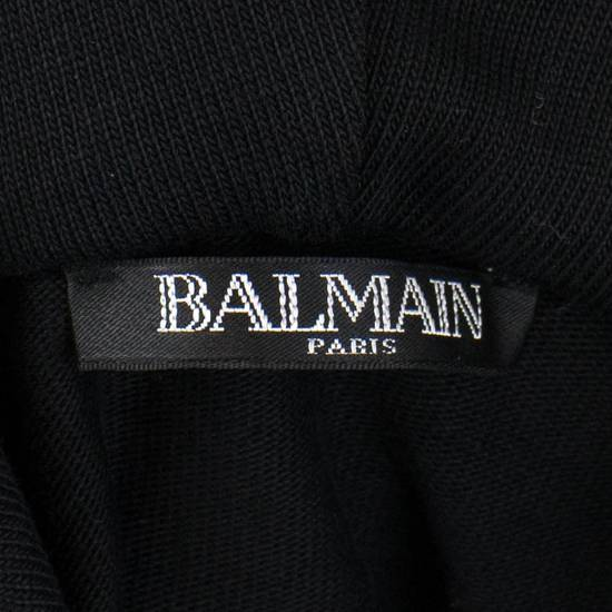 Balmain Men's Black Cotton Embroidered Long Hooded Sweater Size Large Size US L / EU 52-54 / 3 - 6