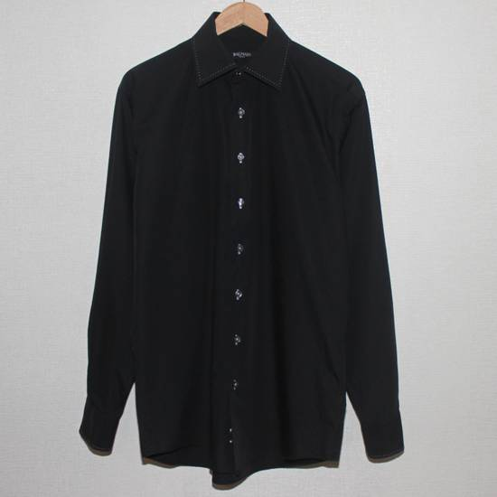Balmain Vintage Balmain Paris Free Shipping Men's Longsleeve Button Shirt Black Size Fit Like L Cotton Size US L / EU 52-54 / 3 - 1