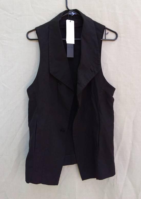 Julius Black Poplin Vest ss13 Size US M / EU 48-50 / 2